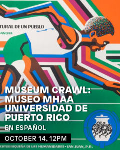 Promotional flyer, in Spanish, of a Museum Crawl program