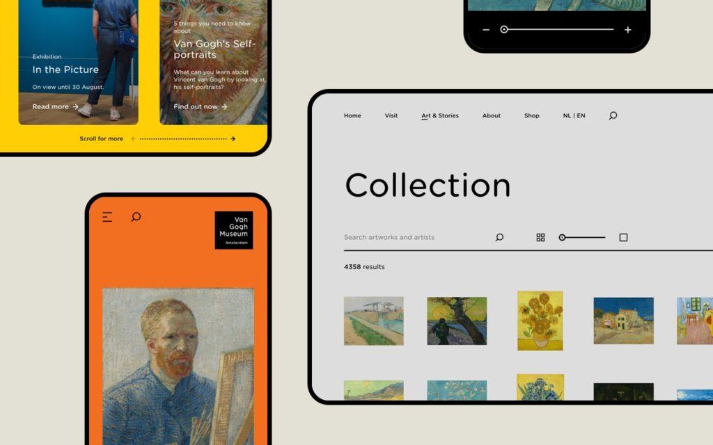 Van Gogh Museum new website design