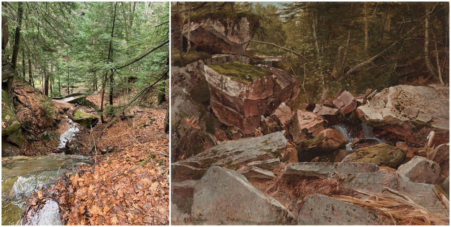 two fall scenes