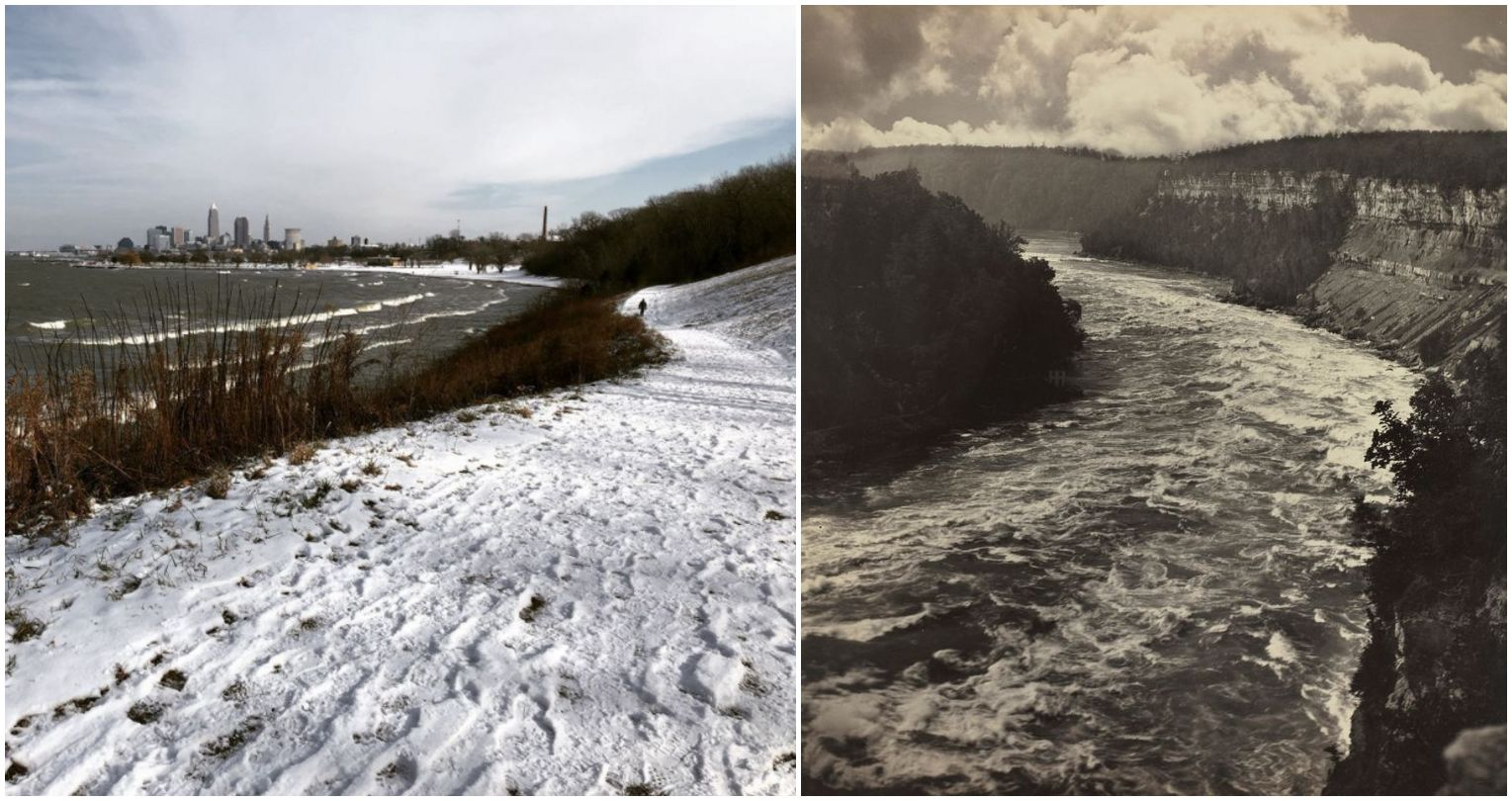 a snowy path compared with a river
