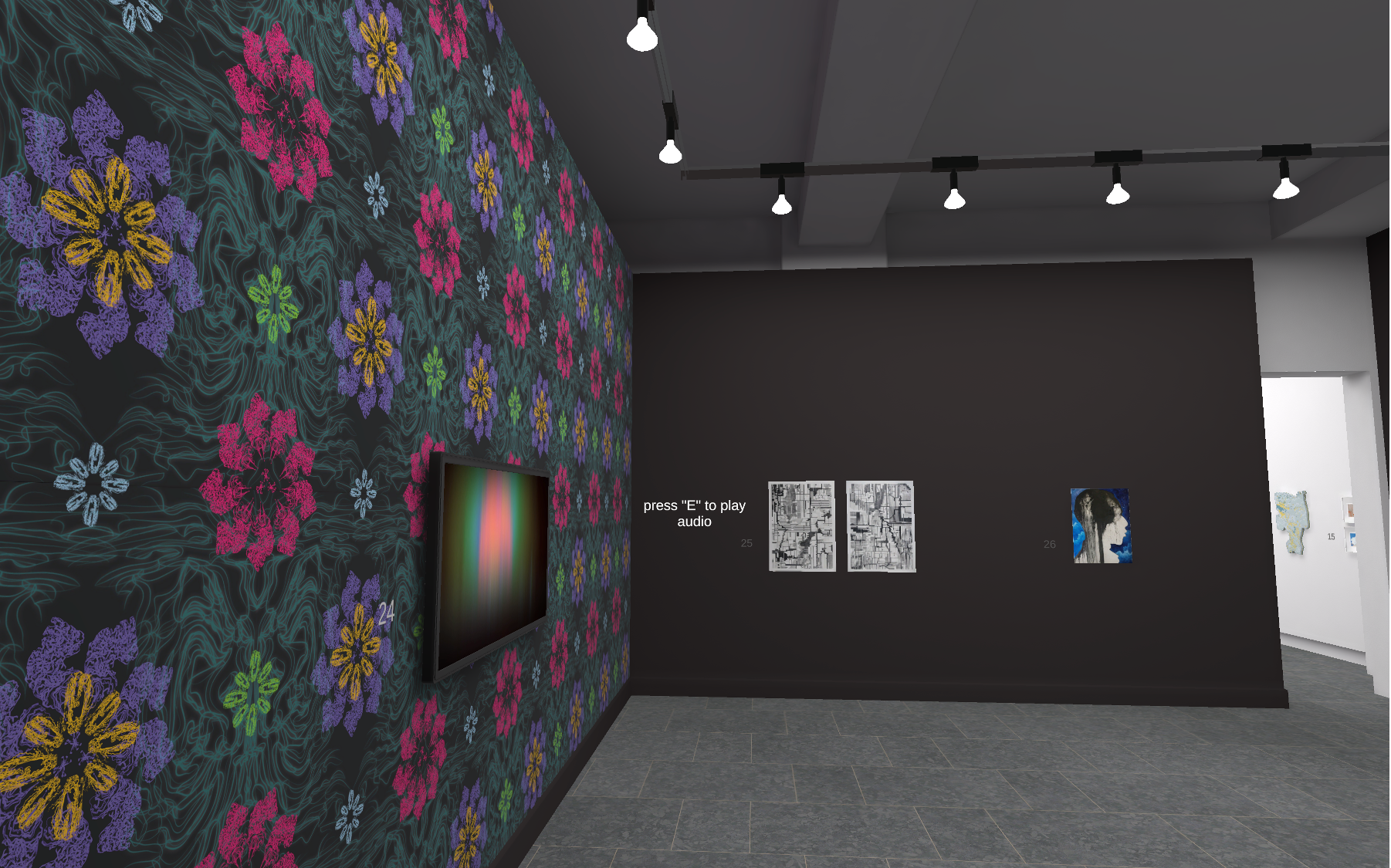 Example of SECAC's 2020 Juried Members' Exhibition gallery in the Virtual Anderson
