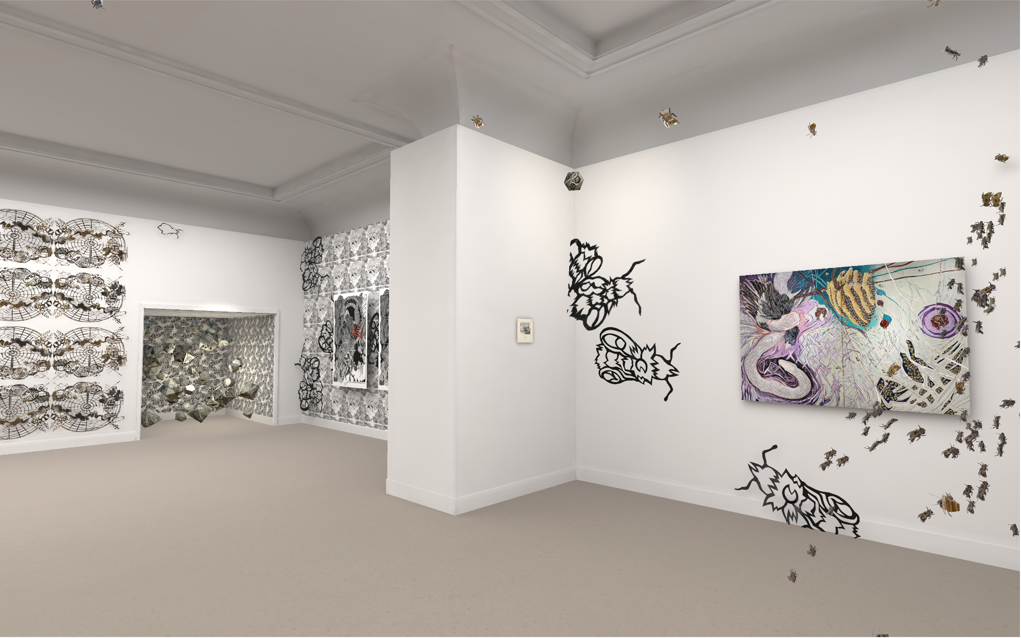 View of Adrien Rhodes' installation as SECAC's 2020 Artist's Fellowship Exhibition in the Virtual Anderson