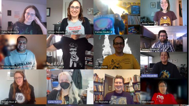 group of people in virtual meeting