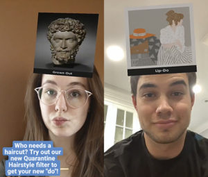 two selfies showing instagram filter